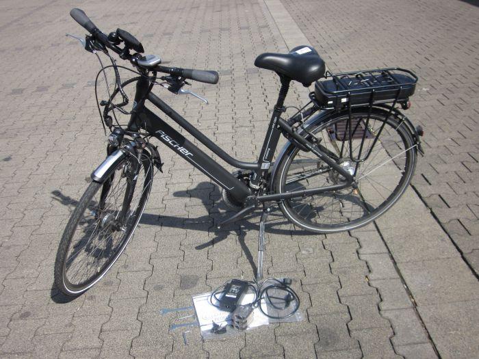 fischer damen e bike trekking proline anthrazit 46cm 28. Black Bedroom Furniture Sets. Home Design Ideas