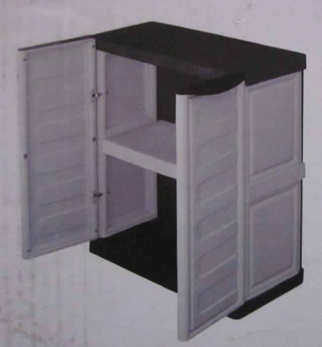 kunststoffschrank gartenschrank schrank klein spazio line ebay. Black Bedroom Furniture Sets. Home Design Ideas