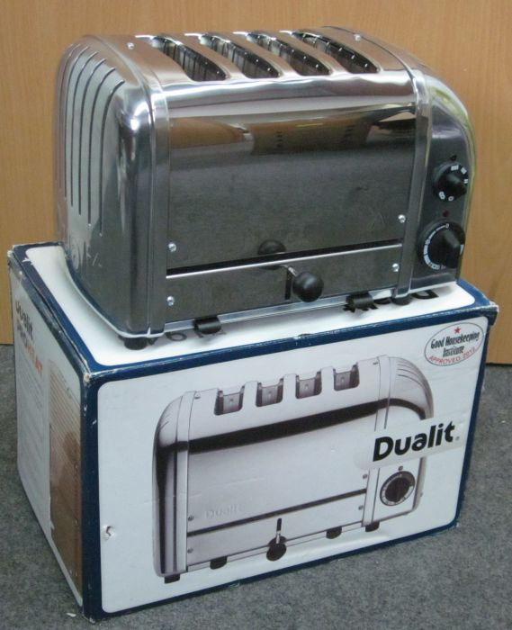 dualit 47030 new generation vario toaster 4 schlitz chrom poliert ebay. Black Bedroom Furniture Sets. Home Design Ideas