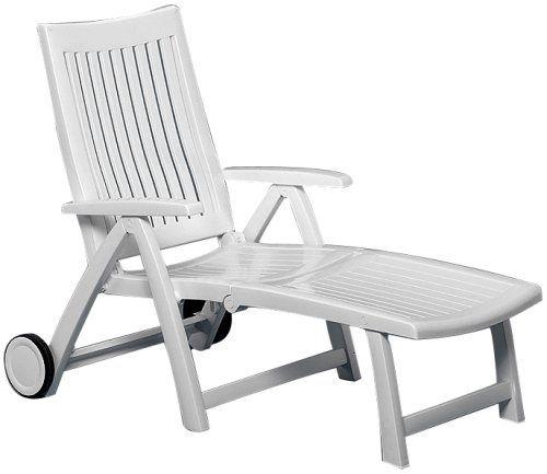 kettler rollliege roma liege vollkunststoffgestell wei ebay. Black Bedroom Furniture Sets. Home Design Ideas