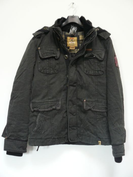khujo herren jacke winterjacke parka tiger schwarz black gr m ebay. Black Bedroom Furniture Sets. Home Design Ideas