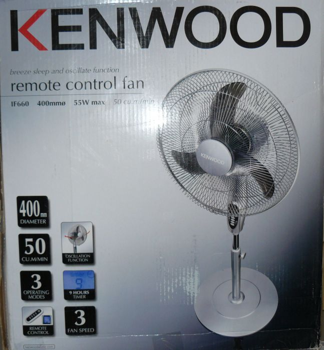 kenwood ventilator standventilator if660 55w 400mm 3. Black Bedroom Furniture Sets. Home Design Ideas