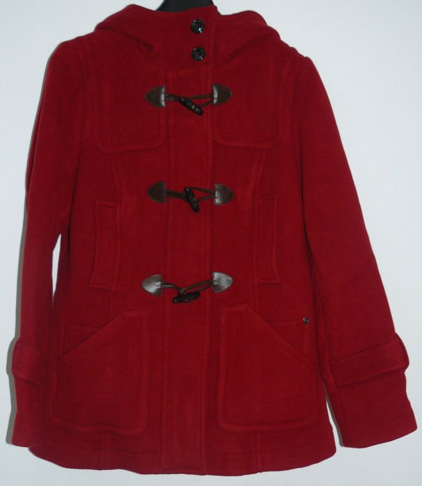 s oliver damen kurzmantel jacke mantel parka rot gr 42. Black Bedroom Furniture Sets. Home Design Ideas