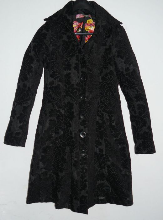 desigual damen mantel kurzmantel jacke parka 27e2924 schwarz gr 36 ebay. Black Bedroom Furniture Sets. Home Design Ideas