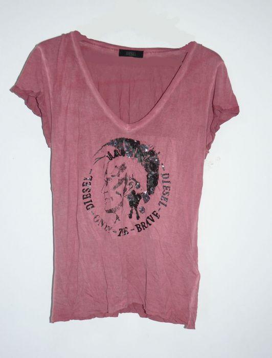 diesel t rebutia t shirt damen shirt bordeaux rot pailetten gr s. Black Bedroom Furniture Sets. Home Design Ideas