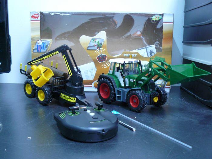 Dickie spielzeug  rc forester traktor anhänger